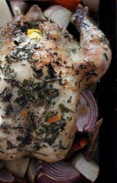 My favourite way to eat chicken is to roast the whole bird and forget the waste! My lemon herbed chicken is to die for and one that I've adapted from my mother's recipe.