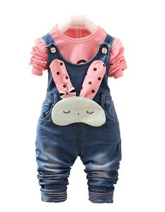 e54b637f0a3 Chumhey Baby and Little Girls Blue Denim Overalls Pant Sets Bunny Decor    Check this awesome. Clothing ...
