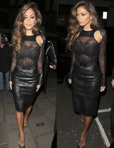 Nicole Scherzinger : Leather and Lace