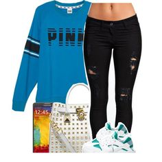 Untitled #1039 by lulu-foreva on Polyvore featuring Victoria's Secret, MICHAEL Michael Kors, NIKE and Samsung