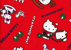 Hello Kitty new | Hello Kitty fabric 1/2 yard $8.00 | Hello ...