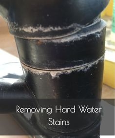 Removing Hard Water Stains and tomorrow is the day to get rid of the hard water stains!  YES!