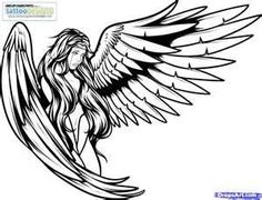 How To Draw Tattoo Angels Angel Tattoos Step Image  Tattooing