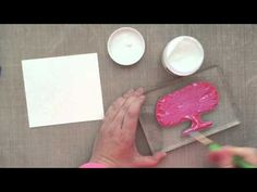 """Create a fun project using the """"resist"""" technique using Faber Castell Gelatos and Gel Medium! :) blitsy.com"""