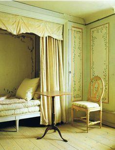 Swedish style antique bed