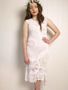 crochet doily dress