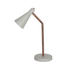 Denver Lamp White & Copper Desk Lamp, Table Lamp, Denver, Master Bedroom, Lamps, Copper, Interior Design, Lighting, House