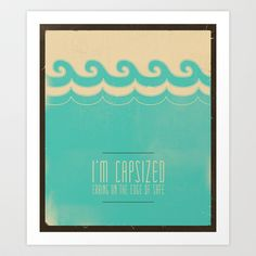 "Tegan and Sara ""The Con"" Lyric Art Art Print by JUST"