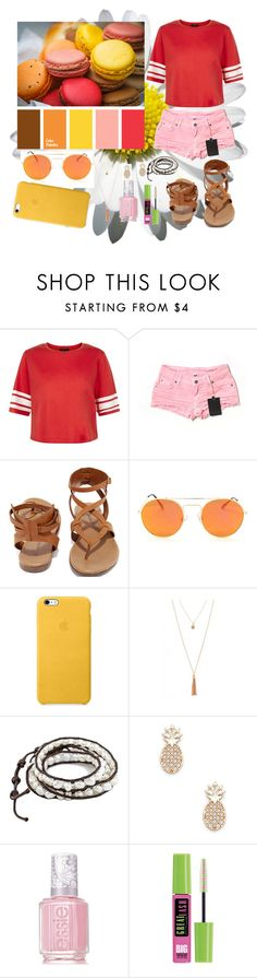 """Picture Color Palette Outfit #10"" by annie-nisnevich on Polyvore featuring New Look, Carmar, Breckelle's, Sole Society, Essie and Maybelline"