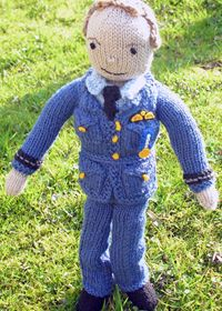 Prince William knitted doll