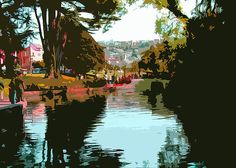"""Lake at the Palace (photo art)""""  Click the """"pinned from"""" link to purchase this print."""