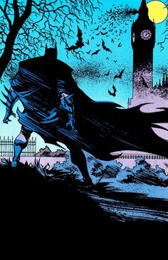 "Another of my favorite Batman artist is Morm Breyfogle as seen here in Detective Comics Vol. 1 (September ""An American Batman In London"" Art by Norm Breyfogle Nightwing, Batgirl, Catwoman, Batman Robin, I Am Batman, Batman Arkham, Gotham City, Jason Todd Batman, Batman Artwork"