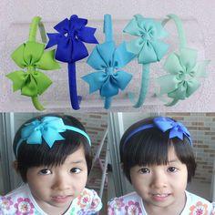 Hot  5pcs Baby Girl Grosgrain Ribbon Hair Band Accesorries Headwear  B002-MIX3 #MyOwnUniqueDesign
