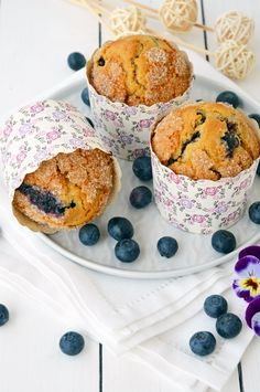 Muffin integrale ai mirtilli