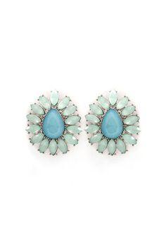 Avi Earrings in Graceful Blue