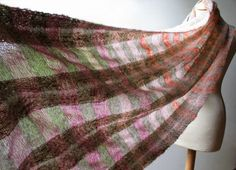 Handwoven Shawl   Soft and Cozy  Handwoven Scarf  by Mireloom, €125.00
