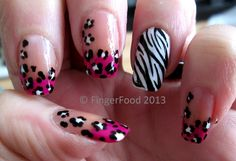 Animal print mani-a! by FingerFood  www.fingerfoodnails.com  www.facebook.com/fingerfoodnail