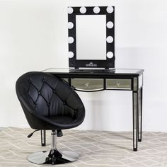 Amanda Square Quilted Vanity Chair | Vanities and Squares