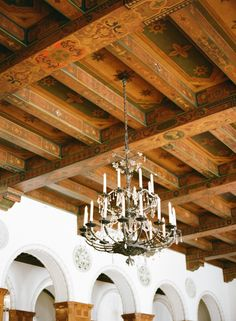 Ceiling Arches And Chandelier