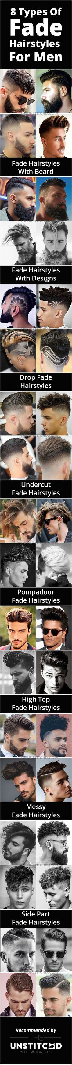 8 Types of Fade Hairstyles for Men. You will find latest fade haircuts for men aswell.