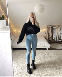 Foto: @lisarosii #fashion Casual Winter Outfits, Winter Fashion Outfits, Simple Outfits, Look Fashion, Stylish Outfits, Mode Outfits, New Outfits, Girl Outfits, Really Cute Outfits