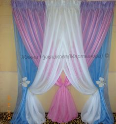 Drapery, curtains, blinds and window treatments. Girls Bedroom Curtains, Drapes Curtains, Window Coverings, Window Treatments, Rideaux Design, Diy Home Decor, Room Decor, Diy Backdrop, Stage Decorations