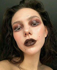 Edgy Makeup, Makeup Eye Looks, Grunge Makeup, Cute Makeup, Pretty Makeup, Skin Makeup, Makeup Inspo, Makeup Art, Makeup Inspiration