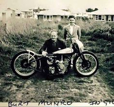 """Discover how the spirit of Burt Munro lives on. 50 years ago, Herbert """"Burt"""" Munro set a land speed record that still stands today. Vintage Bikes, Vintage Motorcycles, Indian Motorcycles, Burt Munro, Cb 750 Cafe Racer, Flat Track Motorcycle, Motorcycle Types, Wooden Bicycle, Classic Harley Davidson"""