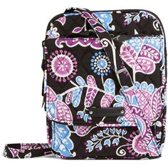 Vera Bradley Mini Hipster Crossbody Bag in Alpine Floral ($34) ❤ liked on Polyvore featuring bags, handbags, shoulder bags, alpine floral, floral shoulder bag, vera bradley shoulder bag, mini purse, vera bradley purses and floral crossbody