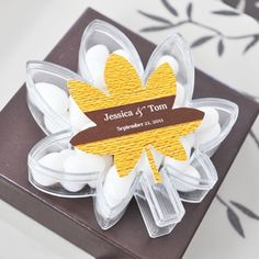 Fall for Love Leaf Acrylic Favor Boxes