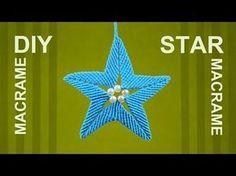 How to Make Macrame STAR Ornament - YouTube