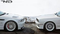 BMW e46 M3 and e30 M3
