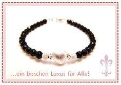 #black #schwarz #Onyx #heart #Herz #Luxusperle