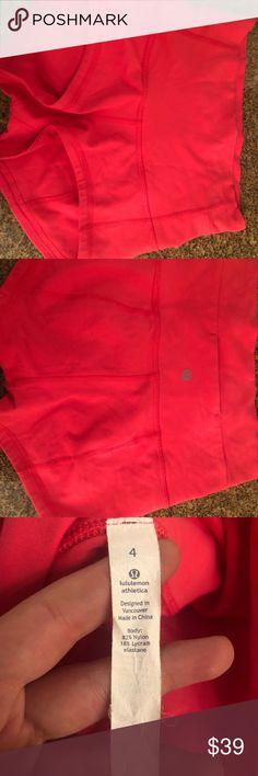 5fc5e99ec53 Lululemon shorts Lulemon short pink color size 4 like new lululemon  athletica Pants Boot Cut & Flare
