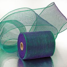 "Mermaid color 6"" deco mesh ribbon"