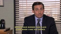 I couldn't agree more, Michael Scott. Funny Twitter Headers, Twitter Header Photos, Twitter Bts, Tv Show Quotes, Work Quotes, Movie Quotes, Funny Quotes, Funny Memes, Hilarious