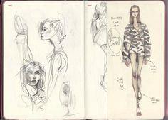 Fashion Sketchbook - fashion sketches; fashion drawings; fashion design journal // Pippa McManus