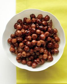 Candied Spiced Chickpeas...I have made varying forms of this and they are HEALTHY and delicious!