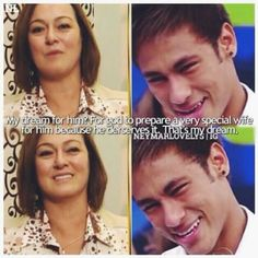 mother, nadine, and neymar image