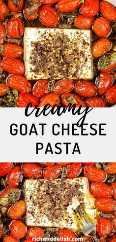 OMG! This creamy goat cheese pasta is out of this world! we tried to make the viral baked feta pasta with goat cheese, spinach, and mushrooms, and it turned out amazing! I can't wait for you to try this recipe! Pasta Salad With Spinach, Greek Salad Pasta, Feta Pasta, Spinach And Feta, Baked Goat Cheese, Goat Cheese Pasta, Goat Cheese Recipes, Pasta Dinner Recipes, Pasta Shapes