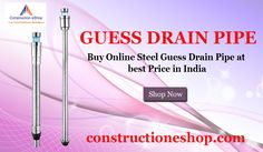 High quality steel #drain #pipes at #constructioneshop