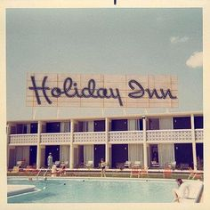 "12 Likes, 1 Comments - Atty's Vintage (@attysvintage) on Instagram: ""#1960s #HolidayInn #vintagefont #hotelpool #foundimage #avgraphicwednesday #attysvintage…"""