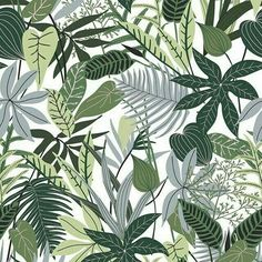 View Jungle Leaf for Foliage Motif Tropical Design by Ashley L Matthews. Available in Vector, Seamless Repeat Royalty-Free. Motif Tropical, Tropical Design, Tropical Pattern, Tropical Leaves, Tropical Paradise, Jungle Pattern, Motif Jungle, Plant Illustration, Pattern Illustration