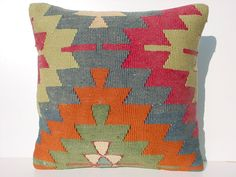 FREE Shipping / Home DecorTurkish Kilim Area Rug Pillow by sofART, $52.00