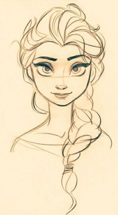 How to draw frozen characters concept sketch frozen a character design references concept draw frozen characters . Cool Drawings, Drawing Sketches, Frozen Drawings, Pencil Drawings, Sketch Art, Drawing Pictures, Face Sketch, Pictures To Draw, Art Pictures