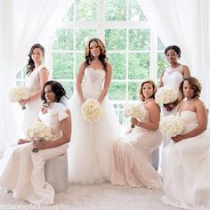 Gorgeous #MunaLuchiBride and her #munabridesmaids! Thx for sharing @lafeteatl | photo by @milanesphotography #munaluchi #munacoterie #MunaLuchiBride #atlantaweddings