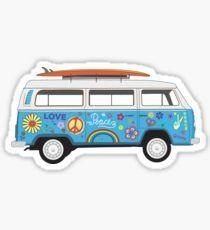 Beach Hippie Van Sticker