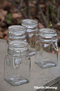 5 easy homemade diy gift ideas, crafts, decoupage, The inside jars came from AC Moore for 1 49