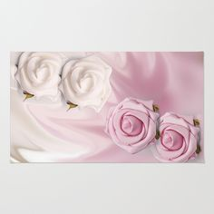 Linen Roses on Linen by Naturessol