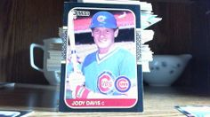 DONRUSS 1987 JODY DAVIS CARD # 269 CUBS(FREE REFLECTIVE STICKER).